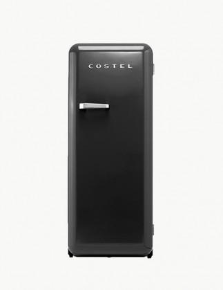 코스텔 모던 레트로 냉장고 281L 매트 블랙 CRS-281HAMB